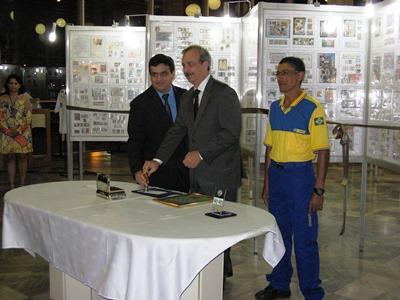 Reinaldo Estevão de Macedo também participa da carimbação