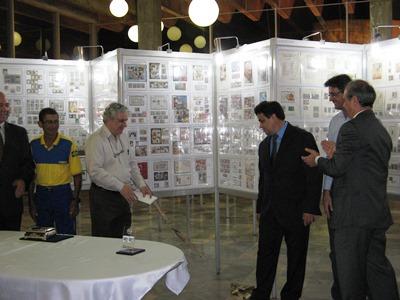 Corte da fita inaugural da Expofinter 2014