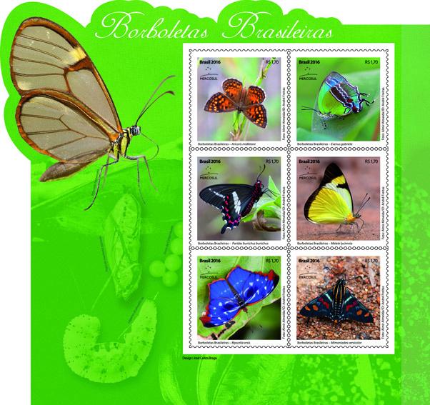 selo borboletas brasileiras